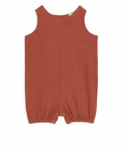 Cotton Muslin Jumpsuit Terracotta