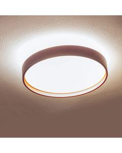 Alina - Plafondlamp Bordeaux En Gouden Interieur