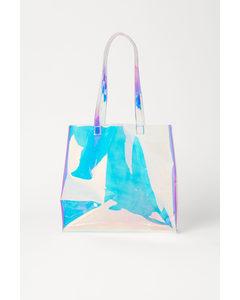 Transparent Beach Bag Purple