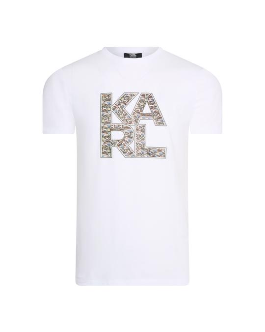 Karl Lagerfeld Karl Lagerfeld Library Logo Shirt White