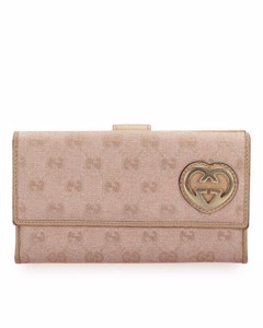 Gucci Gg Canvas Lovely Long Wallet Pink