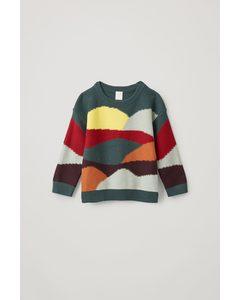 Colour-block Cotton-wool Jumper Multicoloured