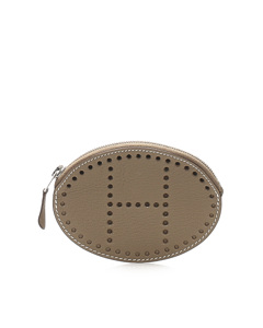 Hermes Evelyn Leather Coin Pouch Brown