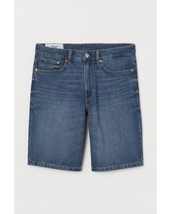 Jeansshorts Regular Blau