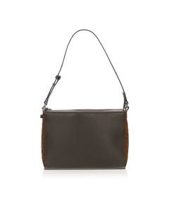 Burberry Leather Shoulder Bag Brown