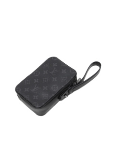 Louis Vuitton Monogram Eclipse Box Clutch Black