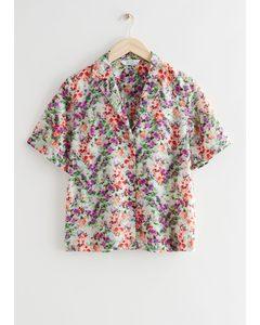 Kurzärmliges Hemd mit floralem Print Blumenprint