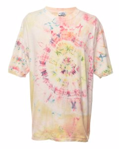 1990s Lee Tie Dyed Printed T-shirt