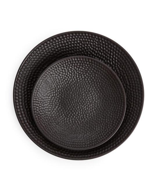 Arket Textured Bowl 26 Cm Dark Brown