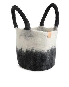 Wolltasche, Aveva Design Schwarz/Weiß