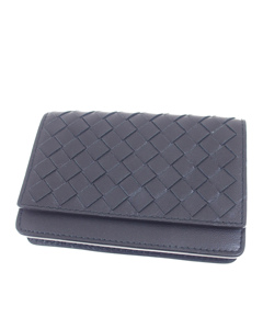 Bottega Veneta Intrecciato Leather Card Holder Black