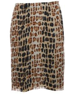 2000s Petites Silk Midi Skirt