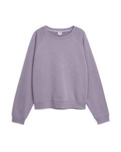 Weiches French-Terry-Sweatshirt Flieder
