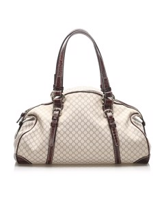 Celine Macadam Boston Bag Brown