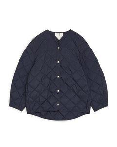 Quilted Jacket Dark Blue