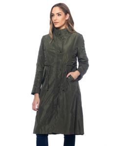 Long Jacket With Belt And Flap Pockets