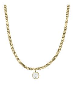 Lourdes Cz Halsband Gold