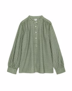Embroidered Blouse Green