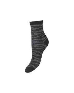 Zebra Glitzi Sock Black