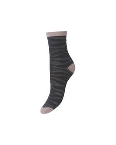 Zebra Glitzi Sock Darkest Spruce