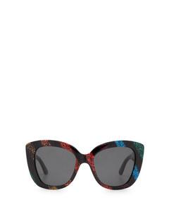Gg0327s Black Glitter Solglasögon