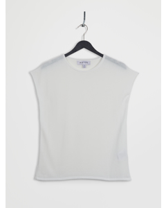 100% Recycled Sleeveless Top White