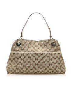 Gucci Gg Canvas Eclipse Shoulder Bag Brown