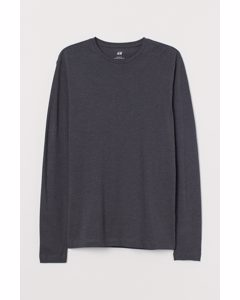 Jerseyshirt Slim Fit Dunkelgrau