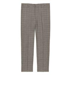 Regular Trousers Tweed Beige