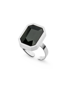 Sabina Square Glam Ring S Silver