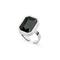 Sabina Square Glam Ring S Silver