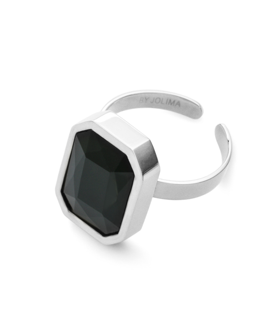 By Jolima Sabina Square Glam Ring S Silver