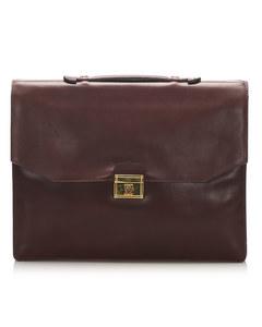 Cartier Must De Cartier Leather Briefcase Red