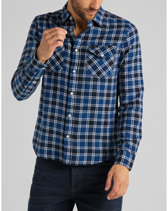 Clean Western Shirt Washed Blue