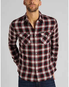 Clean Western Shirt Red Ochre