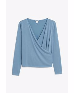 Hanna Wrap Top Blue