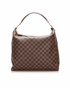 Louis Vuitton Damier Ebene Portobello Gm Brown