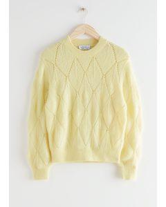 Alpaca Blend Knit Sweater Yellow
