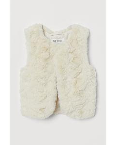 Sage Fur Vest White