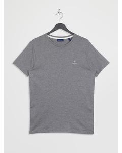 Contrast Logo Ss T-shirt Dark Grey Melange