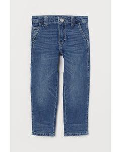 Straight Fit Jeans Denimblå