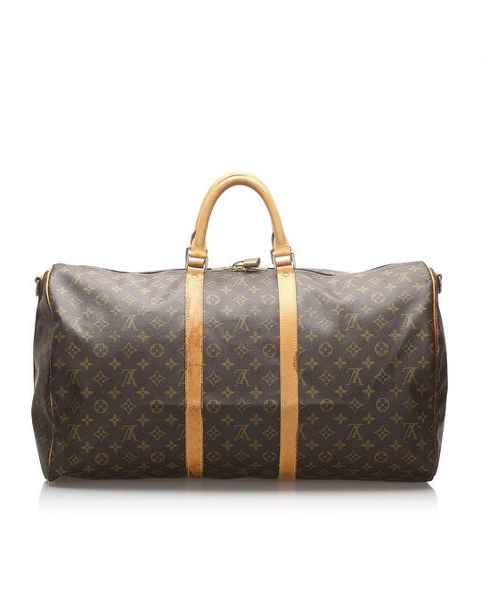Louis Vuitton Louis Vuitton Monogram Keepall Bandouliere 55 Brown