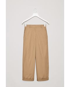 Cotton Trousers Beige
