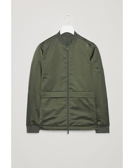 COS Bomber Jacket With Pockets Khaki Green