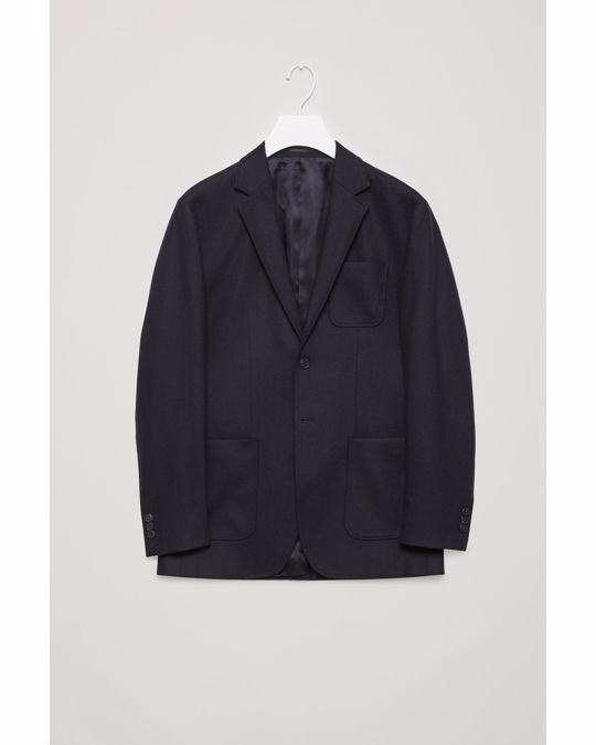 COS Blazer With High Back Vent Navy