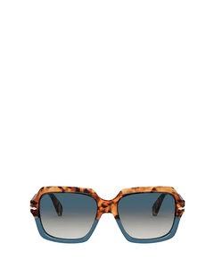 Po0581s Brown Tortoise & Opal Blue Solglasögon