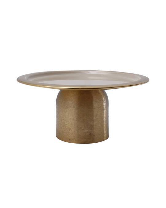 360Living Cake Platter Art Deco 325 Gold / Taupe