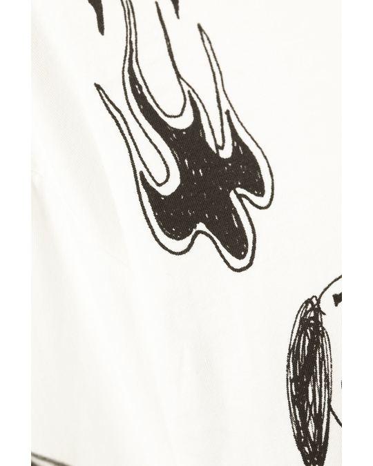Weekday Hack Printed Longsleeve White