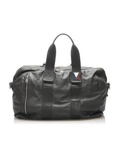 Louis Vuitton V-line Start Leather Travel Bag Gray