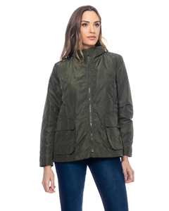 Jacket With Flap Pockets And Elastic Waist